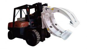 지게차 부착물 360 회전 단일 암 페이퍼 롤 클램프