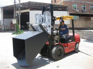 3 톤 현대 디젤 엔진 지게차 부착 물통 힌지 포크 및 물통