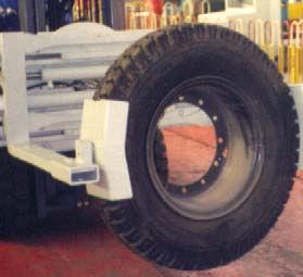 포크 타이어 클램프 슬립